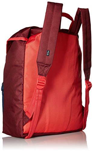 Confezione Poler Stuff Bag Field, Green Camo, 50 x 40 x 6 cm, 18 litri, POLBAG_FIE Rosso - Sweet Berry Wine/Steel Blue/Cayenne