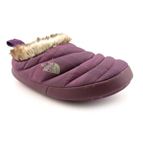 The North Face Nuptse Tent Mule II Fur Womens Slippers - Baroque Purple Plaid Graphite Grey - EU 37/38.5 (UK 4/5.5)