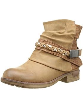 Angkorly - damen Schuhe Stiefeletten - Biker - Reitstiefel - Kavalier - vintage-stil - Geflochten - Schleife -...