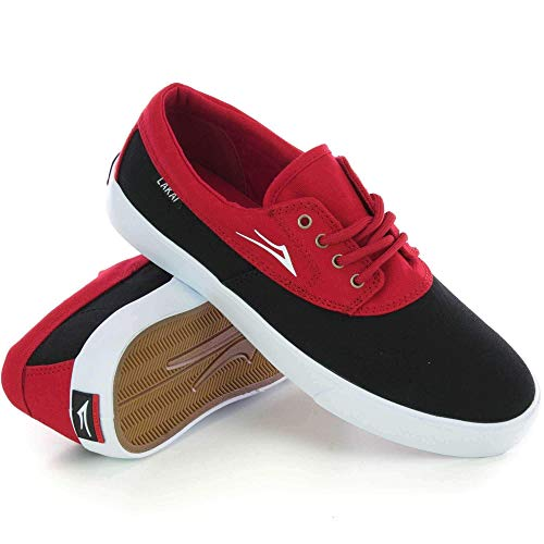 af37bd39c521a Lakai Camby Youth Chaussures de Skate - - Black Red Canvas