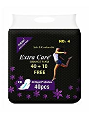 Extra Care Ultra Soft Sanitary Pads - Extra Large Size (40+ 10 Extra Counts)