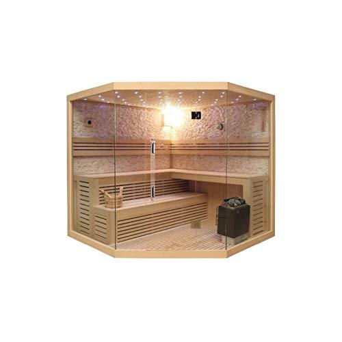 Desineo Saunakabine Komplettanlage Lutèce Full Options Luxe 200 x 200 x 210 cm