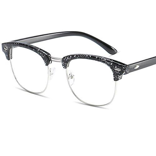 LANOMI Nerdbrille Runde Metall Brille Geblümte Brillenfassung Ohne Stärke mit Brillenetui Vintage...