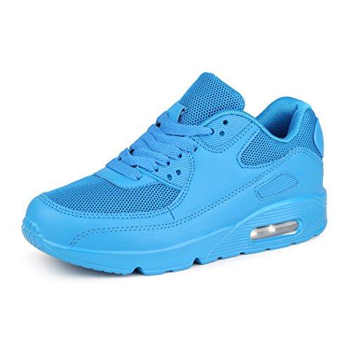 best-boots Unisex Damen Herren Sneaker Laufschuhe Turnschuhe Neu Blau 4 (fällt kleiner aus)