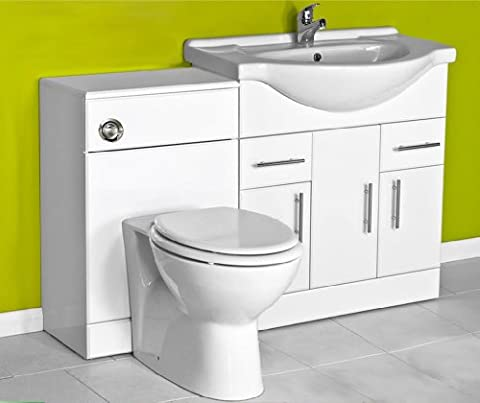 White 750 Bathroom Vanity Combination Unit Suite 500 Back To