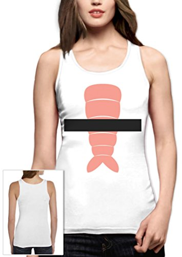 m Frauen Weiß XX-Large Tank Top (Einfach Sushi Kostüm)