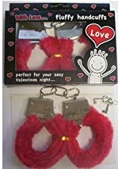 Idea Regalo - Manette in peluche rosse