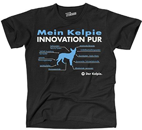 Siviwonder Unisex T-Shirt INNOVATION KELPIE TEILE LISTE Hunde lustig fun Schwarz