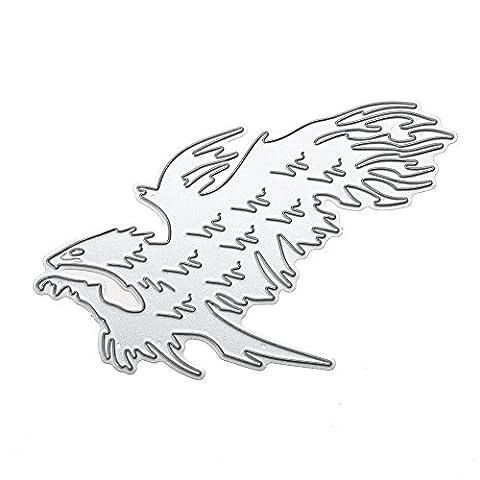 Scrapbooking Découpe Pochoir Stencil Album 1Pcs Grand aigle Matrices de découpage DIY métal de Photo Embossing Cards Décoration Artisanale