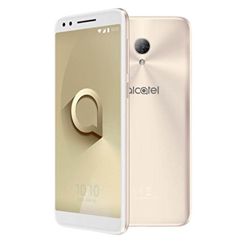 ALCATEL 3L Smartphone Quad Core 1.28 GHz, Android O, 5.5' HD+ 18:9, 1440x720p, 4G, Cámara de 13Mpx y Frontal 5Mpx, 2GB de RAM, 16GB de ROM, (Dorado)
