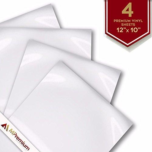mipremium PU Heat Transfer Vinyl HTV, Eisen auf, 30,5 x 25,4 cm 4 vorgeschnittenen Blatt, für T-Shirts Hüte Sport Kleidung und andere Kleidungsstücke und Stoffe, Easy Cut, leicht Weed  (Eisen-transfers)