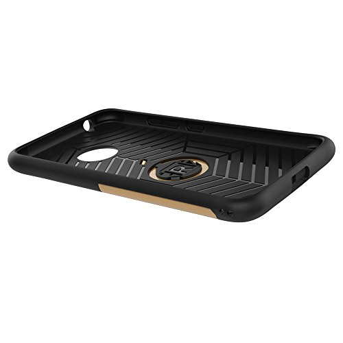 Für Moto G5 Fall Neue Rüstung Tough Style Hybrid Dual Layer Rüstung Defender Soft TPU / PC Rückseitige Abdeckung Fall Mit 360 ° Stand [Shockproof Case] ( Color : Red ) Gold