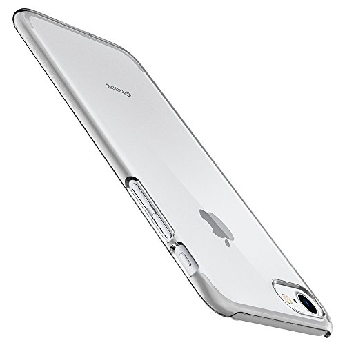 Coque iPhone 7, Spigen® [Thin Fit] Adhérence Parfaite [Crystal Clear] Ultra Léger Anti-Rayures Premium Fini Matte Etui Rigide Coque pour Apple iPhone 7 (2016) - (042CS20934) TF Crystal Clear