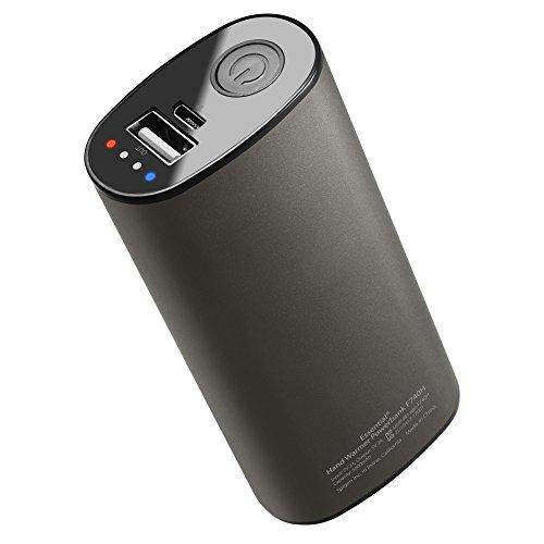 Spigen Essential F740H 5000mAh PowerBank Handwärmer [Schnelle Aufheizung] 2 in 1 Elektrischer Taschenwärmer, portables Ladegerät & Wiederaufladbare Handheizung USB Externer Akku, inkl. Schutzhülle