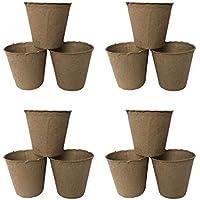 STOBOK 30 Piezas de iniciadores de Plantas Semillas de turba macetas Kit germinación bandejas de plántulas macetas biodegradables ecológicas para Plantas de Interior al Aire Libre (6x6 cm)
