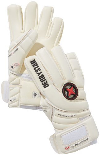 Derbystar Torwarthandschuhe APS White Future Pro mit Innennaht, Weiß, 8, 2543080000