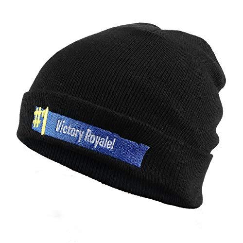 """Pulchra Sombrero de punto Gorro de invierno de lana cálida, tamaño de la cabeza de 21.7 """"a 23.6 '', colores del vino negro, sombreros unisex aptos para el hip hop"""