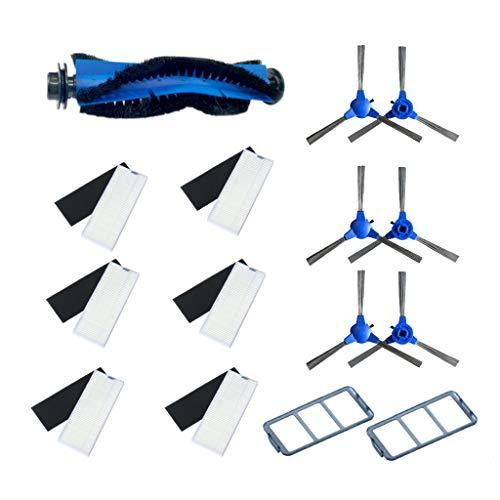 ToDIDAF Staubsauger-Zubehör, Ersatzteile für Kehrroboter, 1 Hauptbürste + 6 Seitenbürste + 6 Filter + 2 Korbfilter für Eufy RoboVac11S Haushaltskehrmaschine