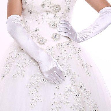 Zormey DIY Perles et strass Blanc avec Opéra Longueur des doigts Gant Spandexbride Gants