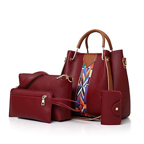 AlwaySky Ensemble de sac à main pour femme 4 en 1, sac fourre-tout, sac à bandoulière, sac à bandoulière, portefeuille, sac à main, portefeuille