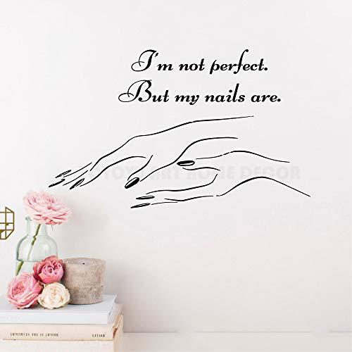 Etiqueta de la pared Nail Art Polish Manicure Decoración de la pared Etiqueta...