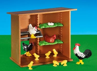 Preisvergleich Produktbild PLAYMOBIL® 6207 Hühnerhaus (Folienverpackung)