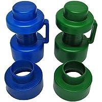 2 Abschlusskappen ∅ 25 mm und 2 Rohrmittelstücke, blau/grün preisvergleich bei fajdalomcsillapitas.eu