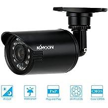 KKmoon 800TVL Cámara Bala de Seguridad CCTV Impermeable IR-CUT Visión Nocturna Vigilancia (PAL)