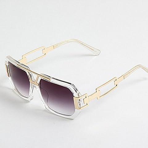 Men and women fashion retro glasses box-plain mirror sunglasses , 1