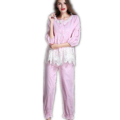 GJX Donna autunno inverno pigiama Set Lounge Pjs , purple , 165 (l)
