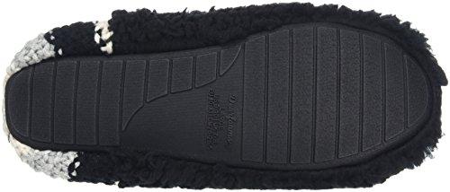Dearfoams - Pile Scuff W/Sweater Knit Heel, Retro aperto Donna Black (Black)