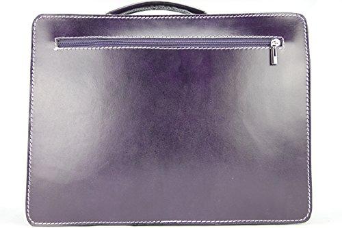 Business- und Laptoptaschen Italienische Luxus Aktentasche L (Rot) Lila