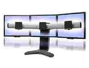 33-296-195 LX Triple Display Lift Stand für 3 Monitore/ Höhe stufenlos einstellbar (130mm)/ Kompatible mit Displays bis zu 22,9'/ Farbe: Schwarz/