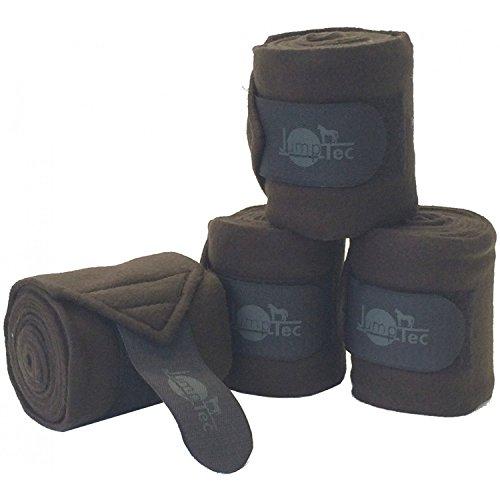 Jumptec 4Stück-Polo-Bandagen, doppelseitig, Fleece–2Größen: Pferde und Ponys–30verschiedene Farben