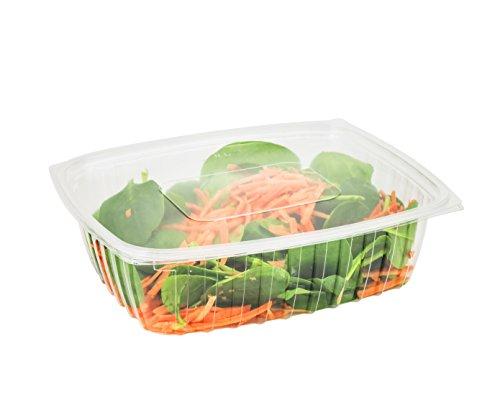 dart C32der, 907,2gram Clearpac transparente boite plastique rectangulaire avec couvercle plat, sortir à salade Deli Fruits Nourriture jetables conteneurs claire - Dart Container Clearpac