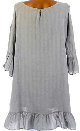 Charleselie94® - robe tunique asymétrique bohème dentelle été gris CHOUPETTE GRIS Gris