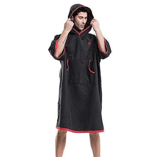 Poncho Handtuch, Erwachsene Unisex-Mikrofaser-Bademäntel, Handtuch-Poncho-Kapuze, schnell trocknender Bademantel, Surf-Tauchanzug, kompakt und leicht, hohe Wasseraufnahme, alle für alle geeignet ,für