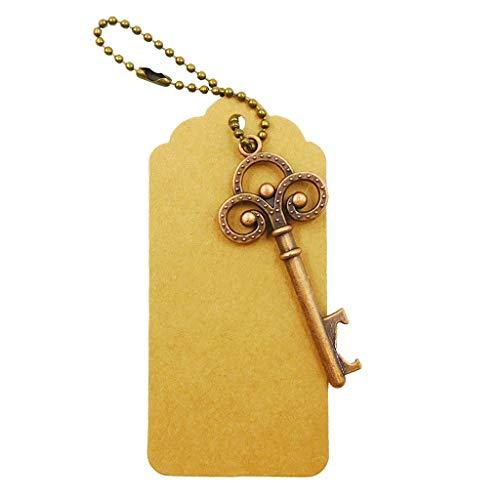 GROOMY Schlüsselanhänger Flaschenöffner Kraft Tags Hochzeit Souvenirs begünstigt Festliche Party Supply - 1# Blank Tag