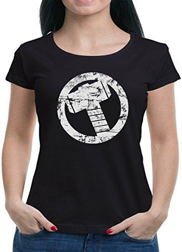 TLM Thor Hammer T-Shirt Damen XL (Kostüm Frauen Punisher)