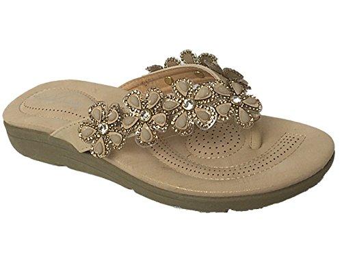 Sandales en cuir pour femme strass perle tendance taille 35 à 41 Cass