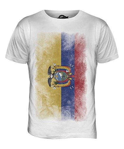 CandyMix Ecuador Verblichen Flagge Herren T Shirt Weiß
