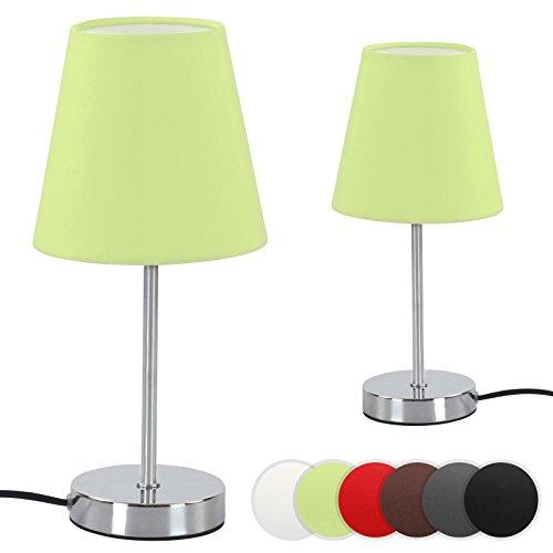 Jago A++ bis E Zeitlose Tischlampe in 6 Farben mit breitem Fuß und geringem Stromverbrauch einzeln oder im 2er-Set -