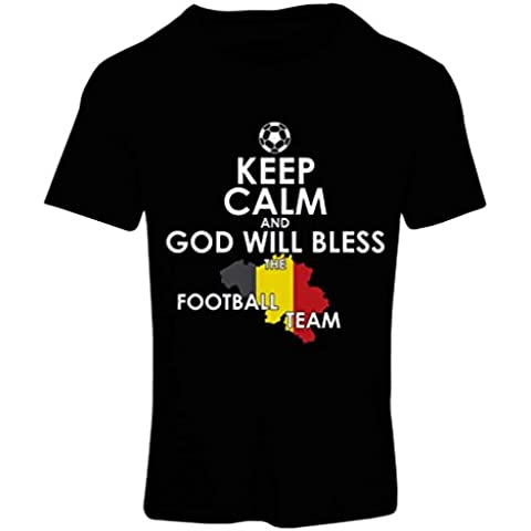 N4493F Camiseta mujer God will bless the German football team