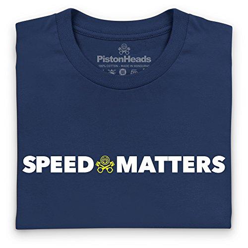 PistonHeads Speed Matters New T-Shirt, Herren Dunkelblau