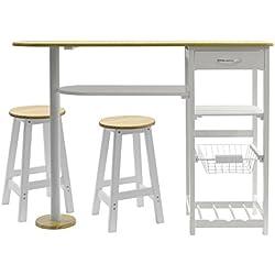 Arte Regal Import 26449 - Mesa larga de cocina, color blanco