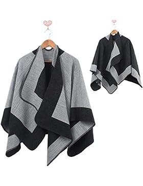 zedtom Mujer Chal Invierno Casual Poncho Capa Chándal del abrigo manta a camiseta