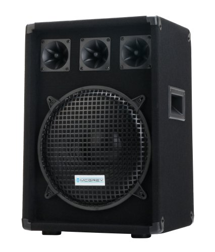 "McGrey DJ-1222 DJ PA Lautsprecher Box 30cm (12"") Subwoofer 600W (Passiv, 2-Wege System, Holzgehäuse, 35mm Flansch)"