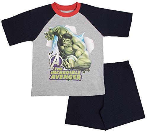 Image of Kids Boys Pyjamas Avengers Assemble Short Pjs Set Superhero Iron Man Hulk Thor Captain America Size UK 3 to 10 Years