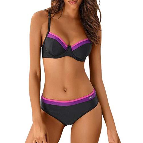 Kostüm Schwimmen Out Cut Rote - Sexy Einfarbig Steigung Split Badeanzug,Resplend Damen Schwimmen Kostüm Gepolstert Badeanzug Bikini Setzt Badebekleidung