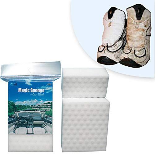 Packung mit 6 magischen Reinigungsschwämmen, Autoledersitz-Innenwaschmittel, Reinigungsschwamm aus magischem Melamin
